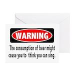Beer Warning Greeting Cards (Pk of 10)