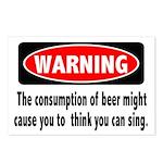 Beer Warning Postcards (Package of 8)