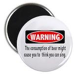 Beer Warning Magnet
