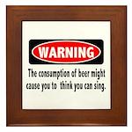 Beer Warning Framed Tile
