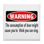 Beer Warning Tile Coaster