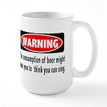Beer Warning Large Mug