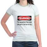 Beer Warning Jr. Ringer T-Shirt