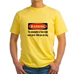 Beer Warning Yellow T-Shirt