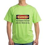 Beer Warning Green T-Shirt