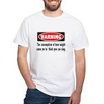 Beer Warning White T-Shirt