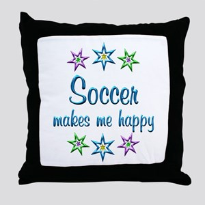 Soccer Happy Throw Pillow