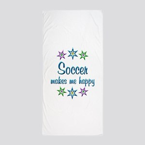 Soccer Happy Beach Towel