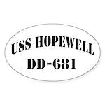USS HOPEWELL Sticker (Oval)
