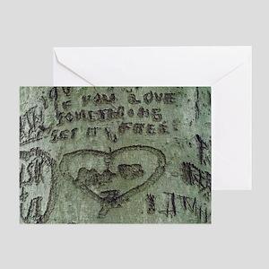 Tree Graffiti Love Greeting Cards