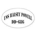 USS HALSEY POWELL Sticker (Oval)
