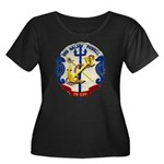 USS HALS Women's Plus Size Scoop Neck Dark T-Shirt