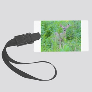 Feeling Safe, Young Mule Deer Luggage Tag