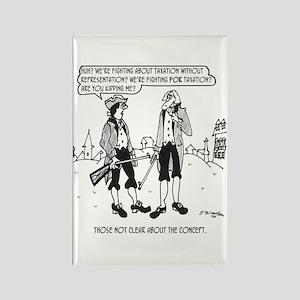 Tax Cartoon 2967 Rectangle Magnet