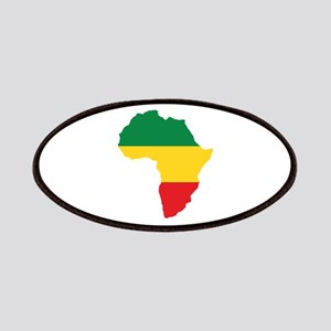 Green, Gold and Red Africa Flag Patches
