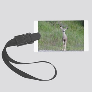 Wild Cutie, Young Mule Deer Large Luggage Tag