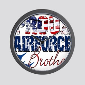 ProudAirForceBrother Wall Clock