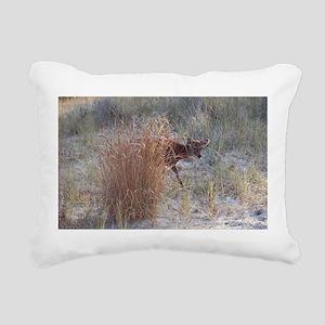 Peek A Boo, Sika Deer Rectangular Canvas Pillow
