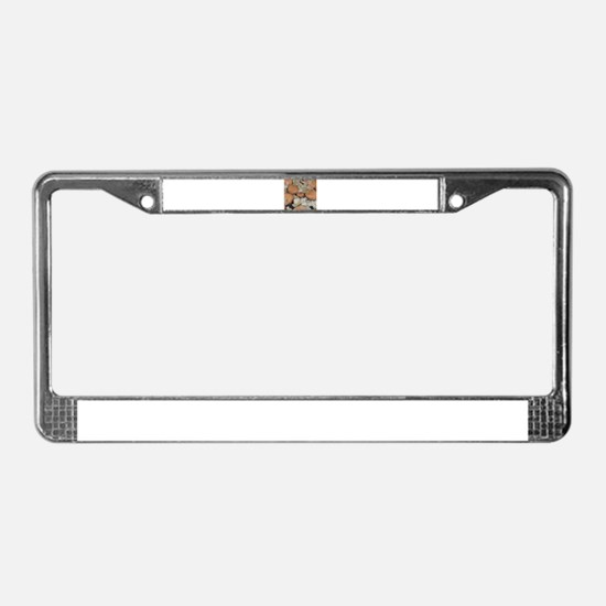 sweet potato onions frying License Plate Frame