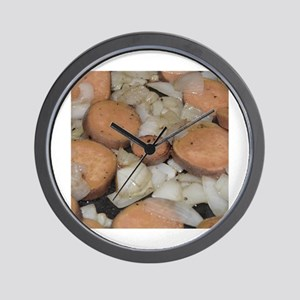 sweet potato onions frying Wall Clock