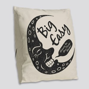 Big Easy Crescent Burlap Throw Pillow