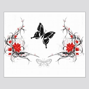 Butterfly/flowers Small Poster