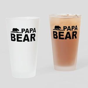 Papa Bear Drinking Glass