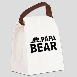 Papa Bear Canvas Lunch Bag