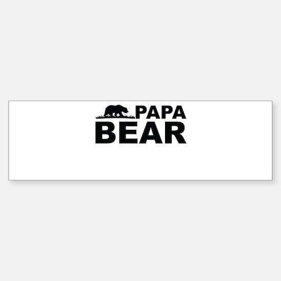 Papa Bear Bumper Bumper Bumper Sticker