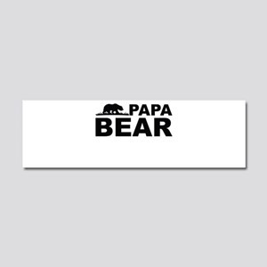 Papa Bear Car Magnet 10 x 3
