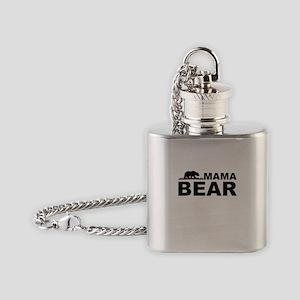 Mama Bear Flask Necklace