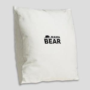 Mama Bear Burlap Throw Pillow