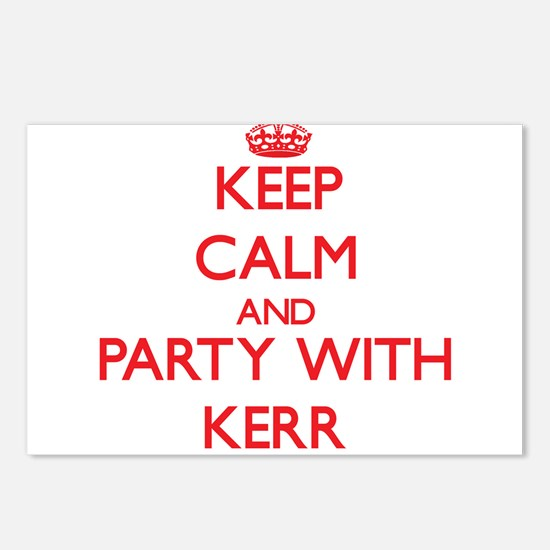 Keep calm and Party with Kerr Postcards (Package o