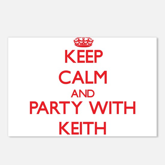 Keep calm and Party with Keith Postcards (Package