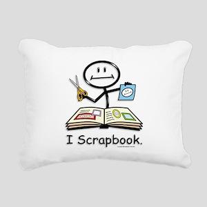 Scrapbooking Stick Figur Rectangular Canvas Pillow