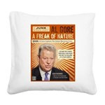 A Freak of Nature Square Canvas Pillow