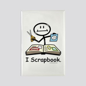 Scrapbooking Stick Figure Rectangle Magnet