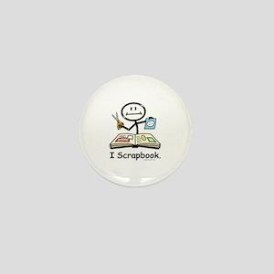 Scrapbooking Stick Figure Mini Button