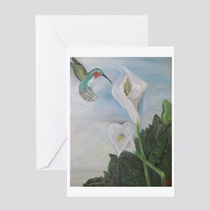 Hummingbird & Calla Lily Greeting Card