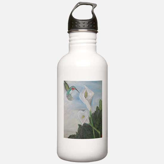 Hummingbird & Calla Li Water Bottle