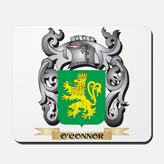 O'Connor- Coat of Arms - Family Cres Mousepad