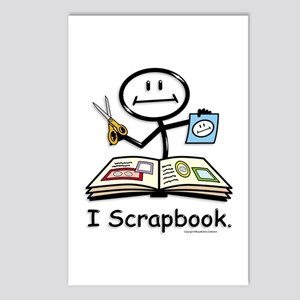Scrapbooking Stick Figure Postcards (Package of 8)