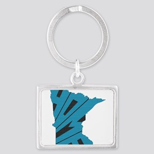 Minnesota Home Landscape Keychain