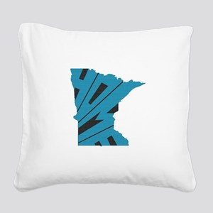 Minnesota Home Square Canvas Pillow