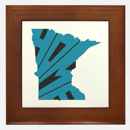 Minnesota Home Framed Tile