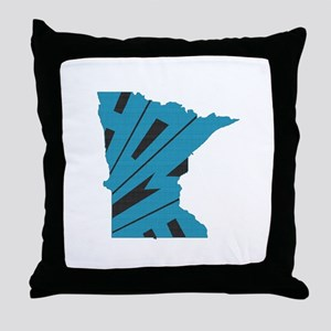 Minnesota Home Throw Pillow