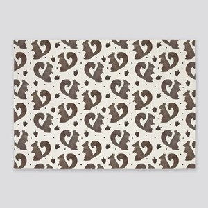 Woodland Squirrel and Acorn 5'x7'Area Rug