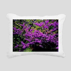 Purple blossoms Rectangular Canvas Pillow