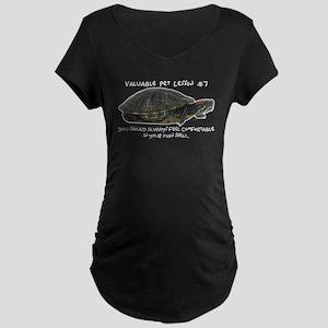 Valuable Pet Lesson #7 Maternity Dark T-Shirt