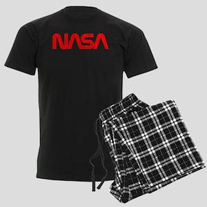 NASA Worm Logo Men's Dark Pajamas